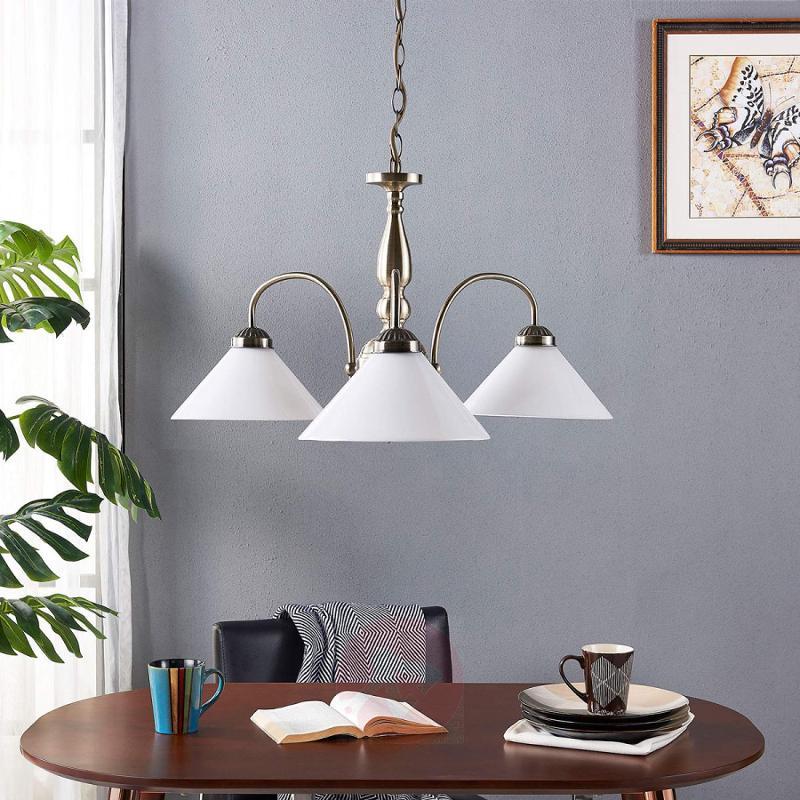 Otis - pendant light with three lampshades - indoor-lighting