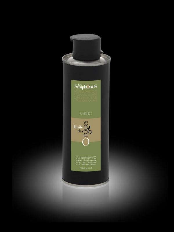 HUILE DES ORGUES,  SYMPHONIE BASILIC 25cl - Produits oléicoles