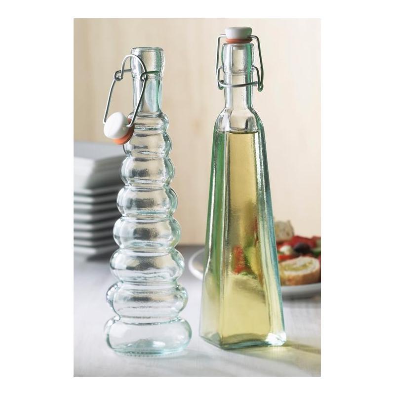 12 bouteilles 300 ml Pyramide avec bouchon limonade - Flacons et Carafes