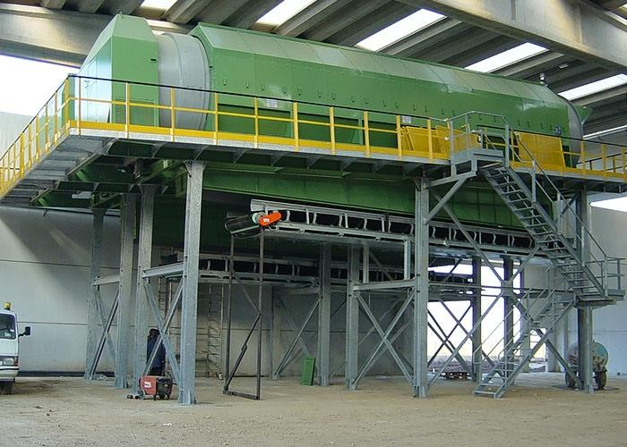 Screening - Rotating screens for waste processing