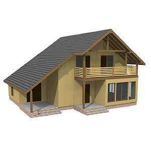 TWO-STOREY PANEL HOUSE WITH SAUNA - Panel house