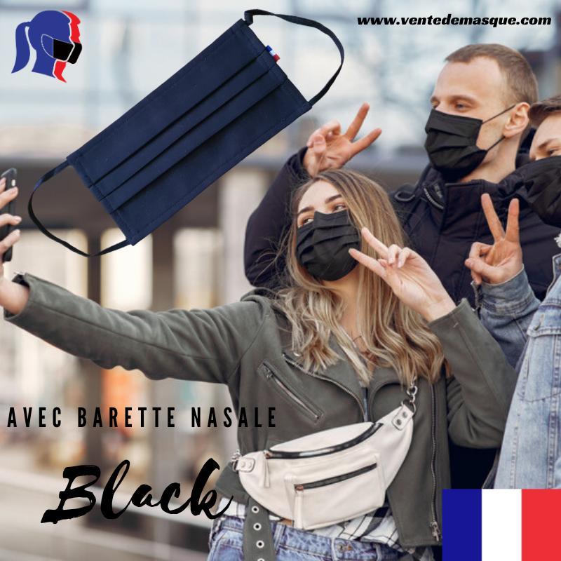 Masque 3 Plis Noir - null