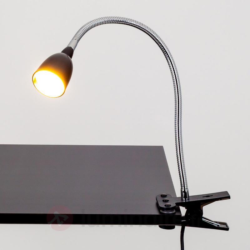 Lampe à pince LED Rabea noire - Lampes à pince