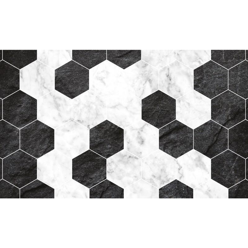 Tapis Vinyle Hexa Marbre Ardoise - NOUVEAUTÉS TAPIS VINYLE