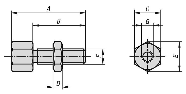 Jack screws - Support elements