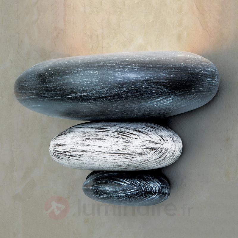 Imitation pierre : l'applique LITICA gris - Toutes les appliques