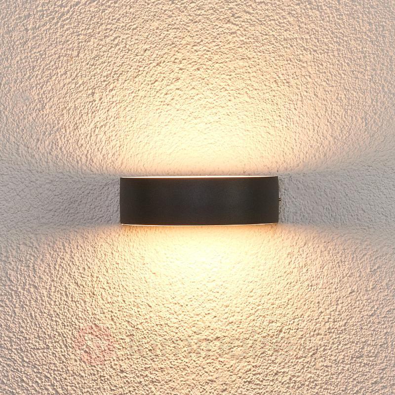 Applique d'extérieur LED semi-circulaire Lissi - Appliques d'extérieur LED
