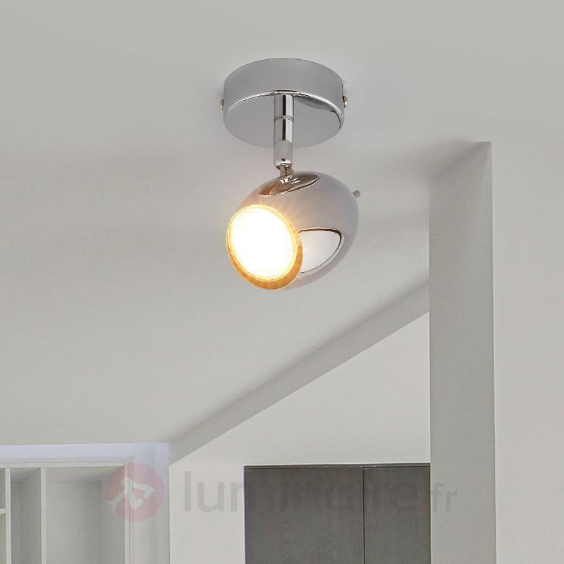 Spot LED chromé Philippa - Spots et projecteurs LED
