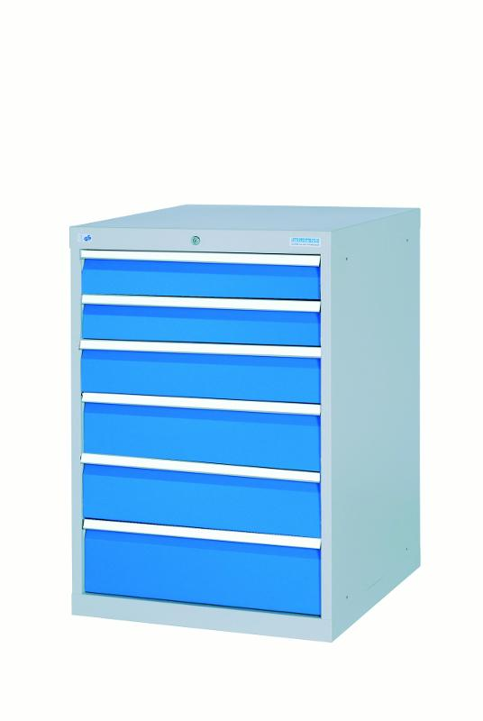 Drawer cabinet with 7 drawers, different front heights - 580/2121V10A