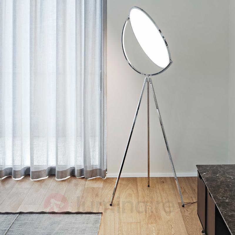 Lampadaire de designer Superloon chromé - Lampadaires design