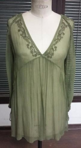 Ladies Viscose Chiffon Embroidered Blouse