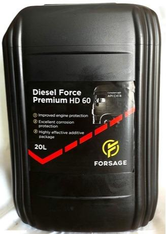 Monograde mineral oil for high-performance diesel engines  - Diesel Engine oil Forsage Diesel Force Premiumt HD 60 API CH-4