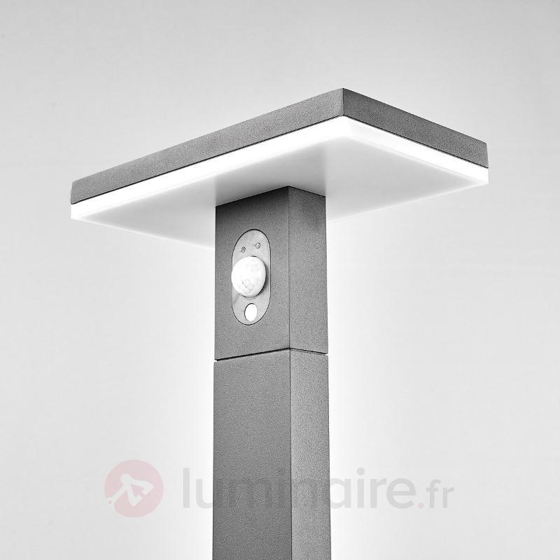 borne lumineuse led josa panneau solaire capteur lampes solaires avec d tecteur luminaire fr. Black Bedroom Furniture Sets. Home Design Ideas