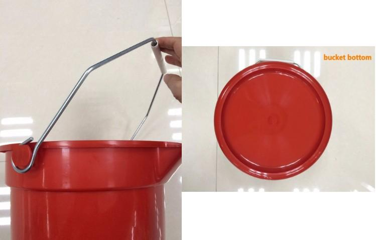Plastic/PP water bucket with measuring scale /marks  - measuring scale/marks water bucket