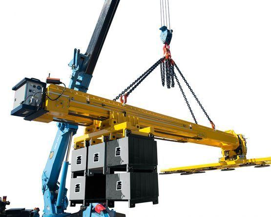 Vacuum suction systems for glazing under protrusions - Suction units can be equipped with a counterweight system!