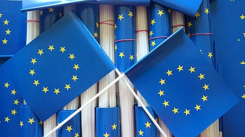 chorągiewki Unii Europejskiej - Papierfahnen UE