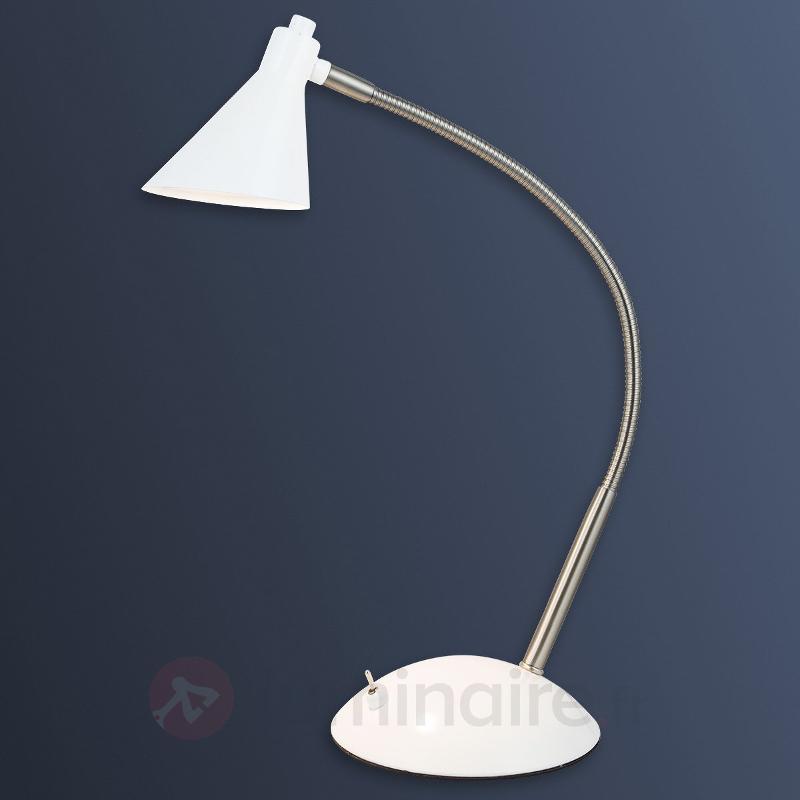 Milou - lampe de bureau LED en blanc - Lampes de bureau LED