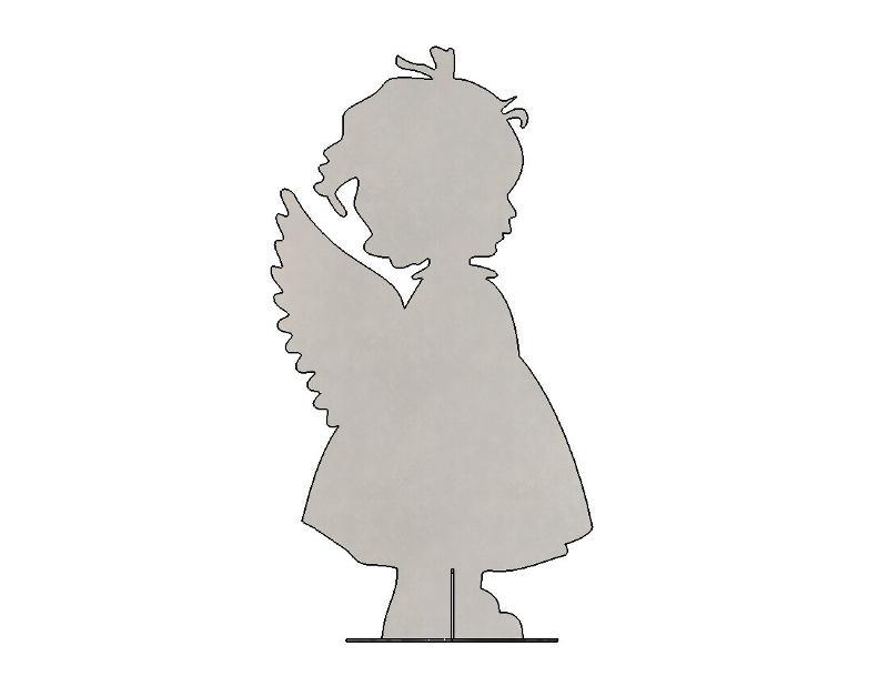 Sculpture «Girl» (flat) - Garden products