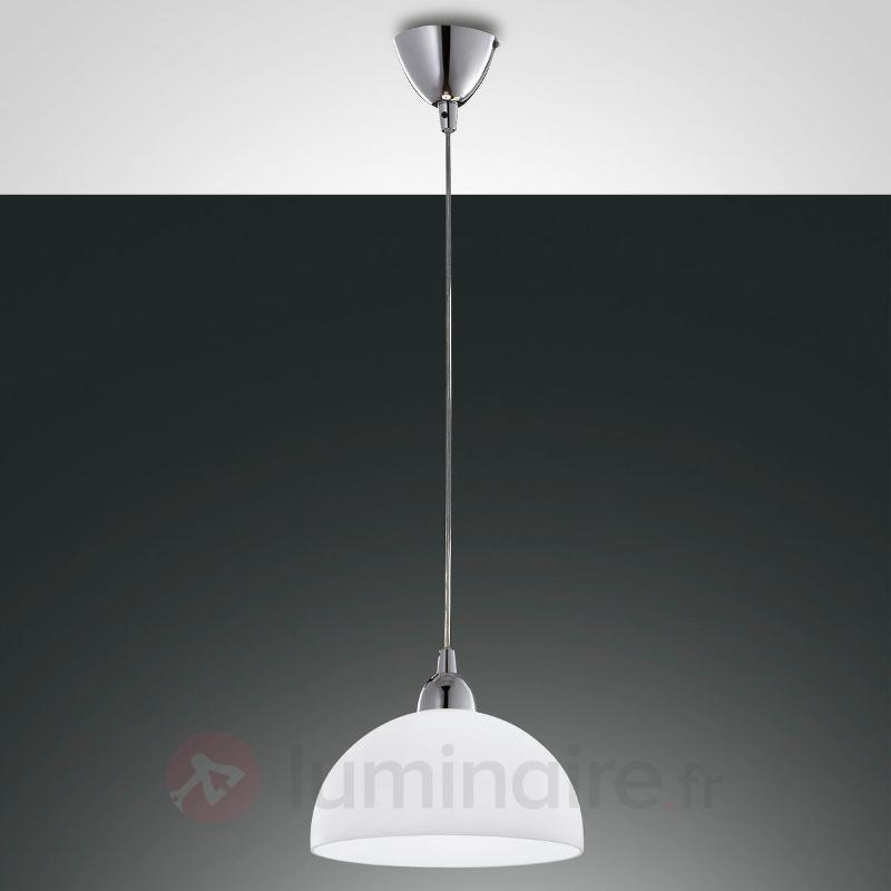 Suspension Nice en verre, blanc - Suspensions en verre