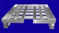 Palette zum Transport/Lagerung von IBC-Containern - Hurtz Aluminium Sonderkonstruktionen