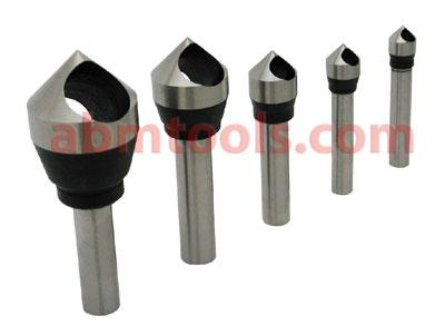 Counter Sink and Deburring Tools - Zero Flute - Countersink deburring tool set is zero-flute and easy to re-sharpen.