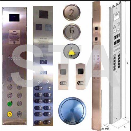 Boite à boutons et boitiers pour ascenseurs