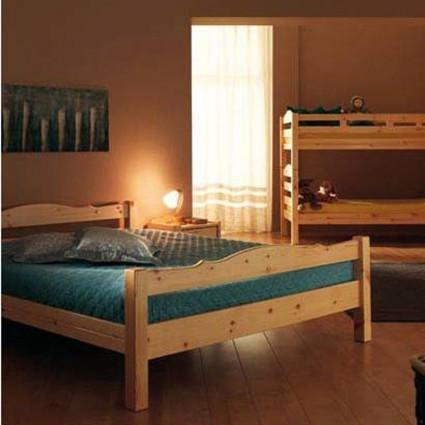 Sommier, mobilier, literie d'appoint - Lit IBIS simple en bois massif sans sommier