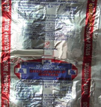 Veterinary Meloxicam Paracetamol Bolus - Veterinary Meloxicam Paracetamol Bolus