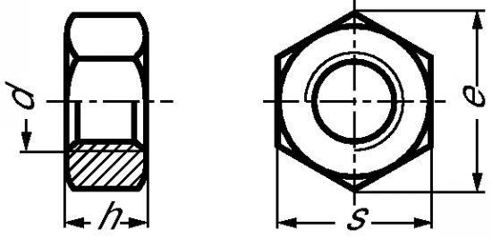 ECROU HEXAGONAL UNC INOX A4 (423623) - ECROU HEXAGONAL UNC INOX A4 (423623)