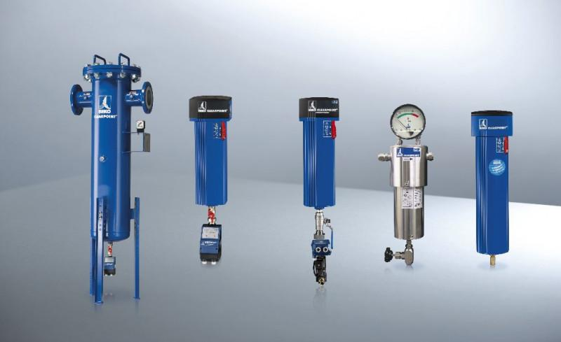 Compressed air filter - Threaded and flanged filters as well as high-pressure filters up to 500 bar.