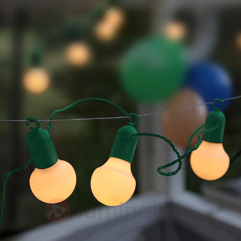 Guirlande lumineuse de fête LED ELIN 20 lampes - Lampes décoratives d'extérieur