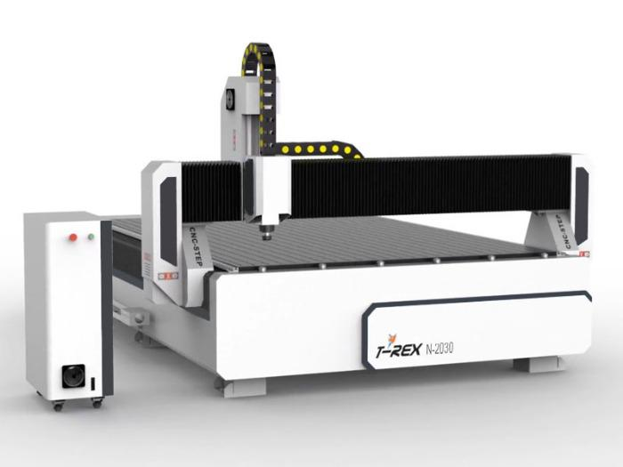 CNC  Portal Milling Machine T-Rex 2030 - Travel paths 3000 x 2000 mm with bellows and closed energy chains
