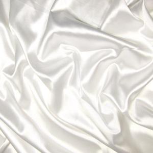 Doublure satin acétate 140 cm blanc - Toiles / Doublures