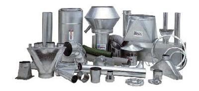 Tuyauterie et composants en tôle galvanisée lisse - Tuyauterie et composants