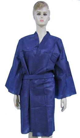 Kimono - Material: PP no tejido Color: azul oscuro / negro Peso: 25gsm-45gsm Tamaño: M /