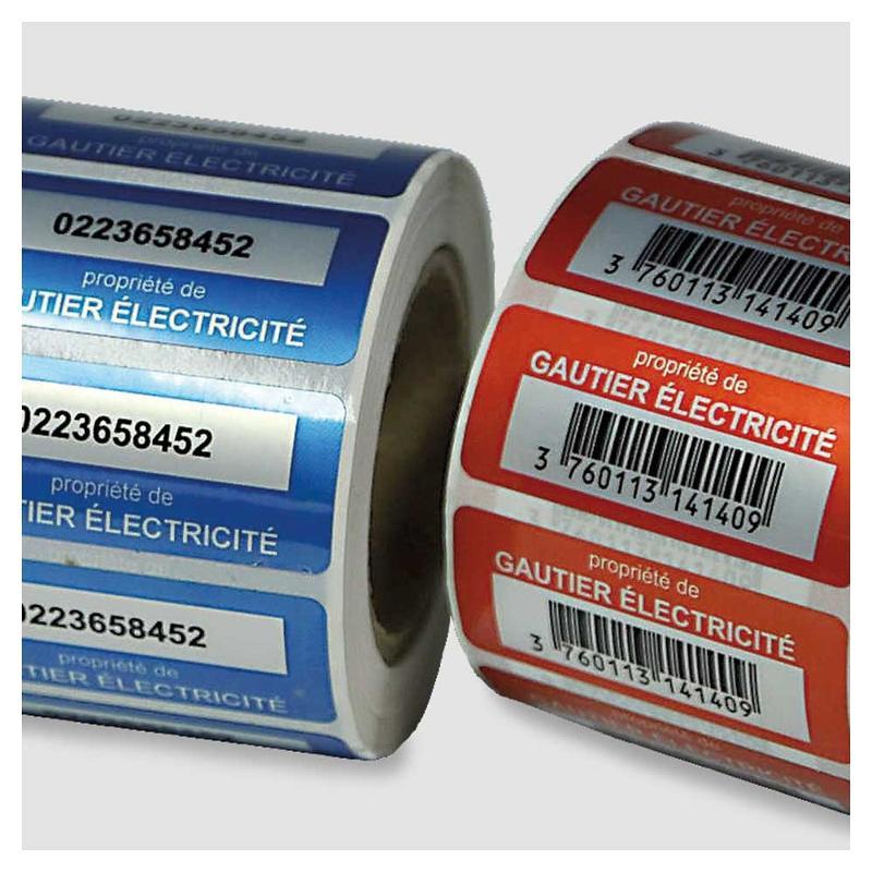 Étiquettes de propriété - usage intérieur - Étiquettes industrielles