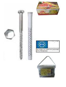 GXLV/TE - Tasselli in nylon prolungati ad annodamento + viti TE - GXLVTE08080 - null