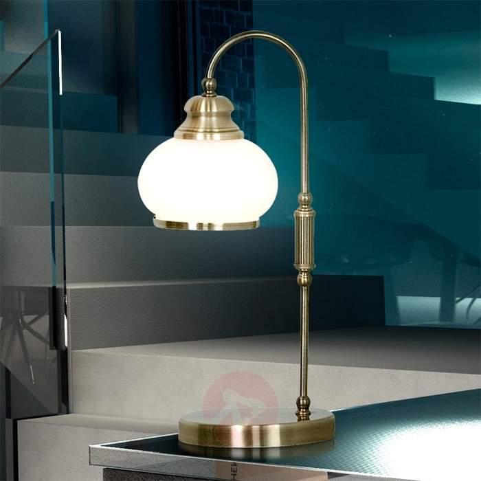TRUNCATUS Antique Brass Table Lamp - Table Lamps