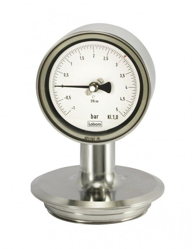Pressure gauge NS 63/100 for diaphragm seal operation - Pressure gauge NS 63/100, hygienic design, diaphragm seal operation,autoclavable
