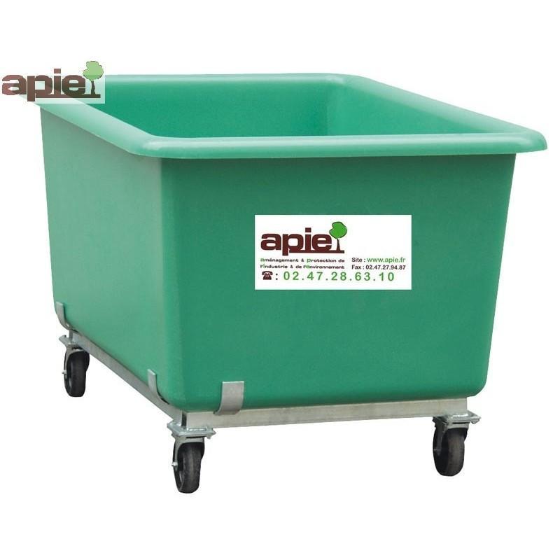 Bac de manutention avec roulettes Coloris Vert