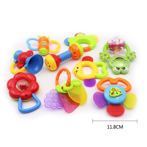 Baby's First Rattle and Teether Toy - Wishtime Baby's First Rattle