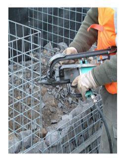 Befestigungsmaterial für Metalldrahtverbindungen - Hog-Ring Klammern und Vertex Clips