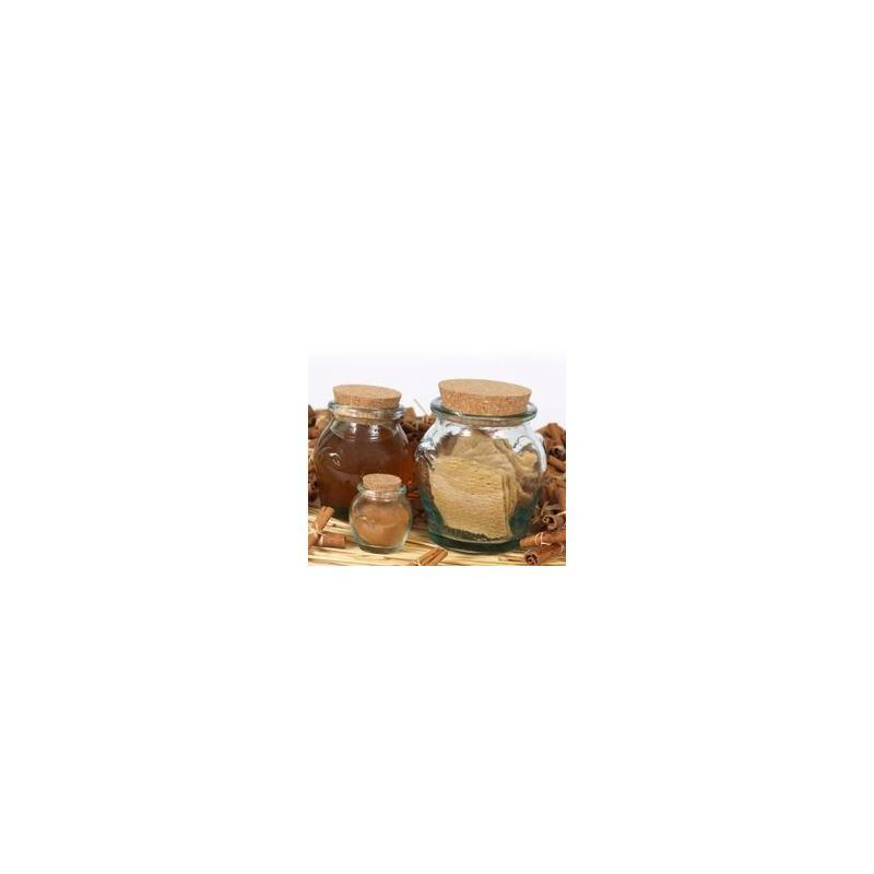 6 Pots à miel / Jarres avec bouchon en liège 500 ml hauteur 12 cm avec bouchon e - Pots à miel Jarres