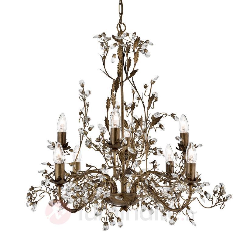8 lampes Lustre Almandite style florentin - Lustres style florentin