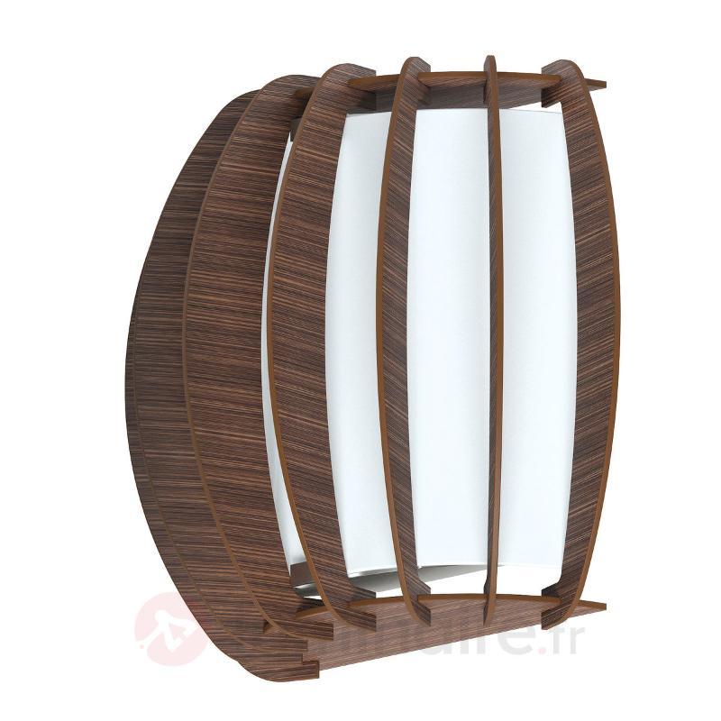 Applique pleine d'effet Stellato en brun foncé - Appliques en bois