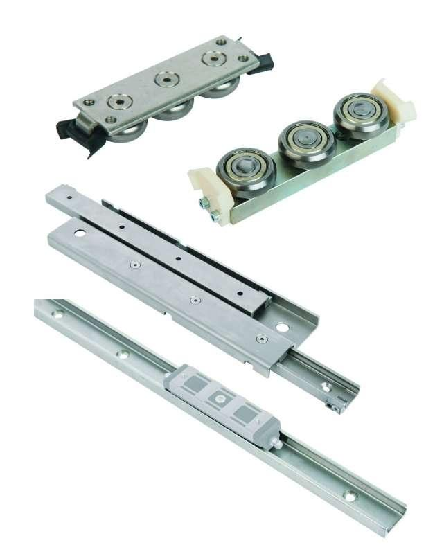 Cross roller guide rails - Cross roller guide rails. Guide rail tool steel 1.2842. End pieces 1.0531.