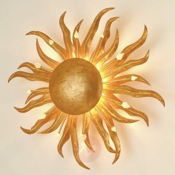Fascinating wall lamp SONNE GOLD 45 cm - Wall Lights