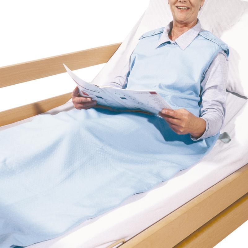 Schlafsack blau, Maße: 85 x 190 cm - Pflegedecke