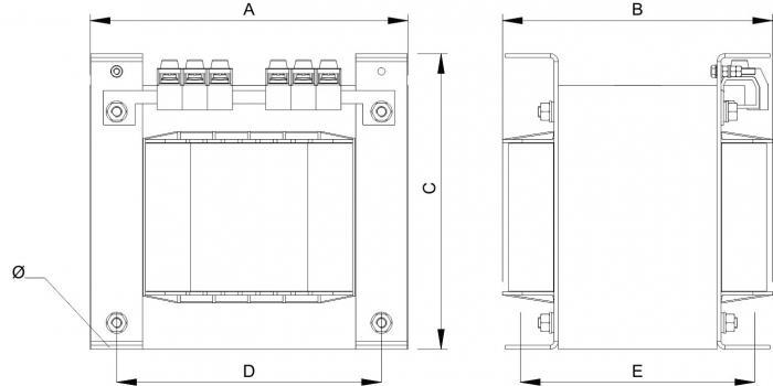 Trenntransformatoren - Einschaltstrombegrenst - Energieeffizient - 230EC3700/IRC
