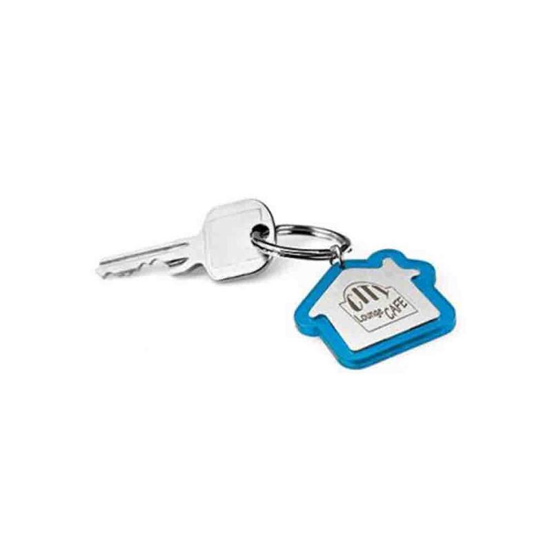 Porte-clés maison plastique/métal - Porte-clés métal